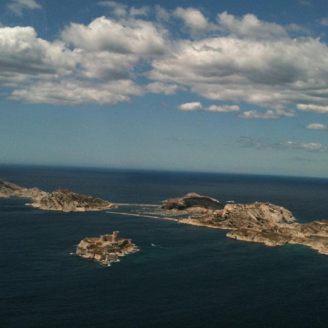 Archipel du frioul et île du chateau d'If, vue aérienne