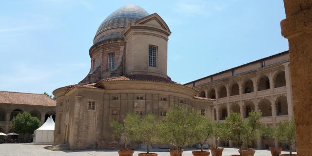 Chapelle dans la cour de la vieille charité, dans le quartier du Panier à Marseille
