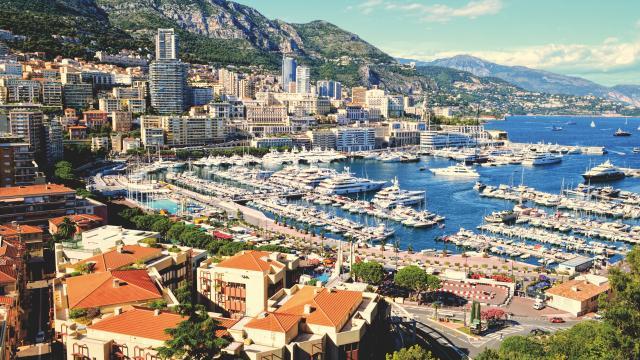 Baie de Monaco depuis les hauteurs