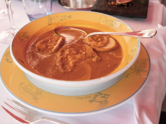 soupe de poisson et crouton de rouille