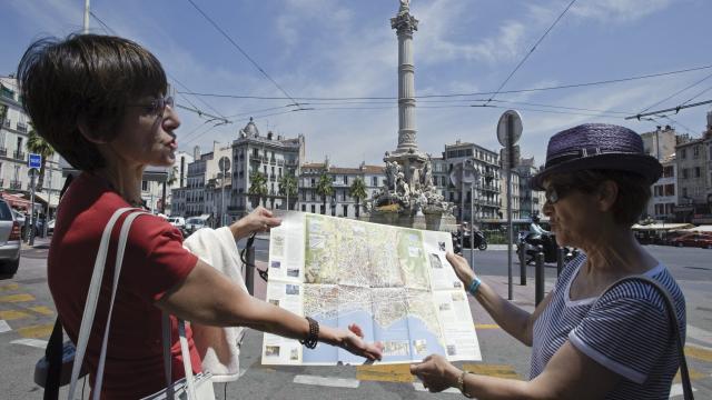 Castellane, Visiteurs avec Map Marseille