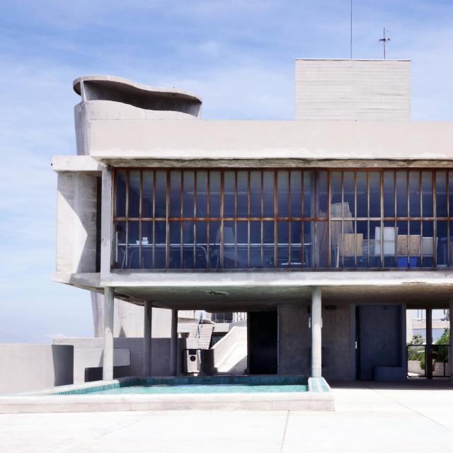Immeuble Le Corbusier Marseille, toit terrasse et piscine