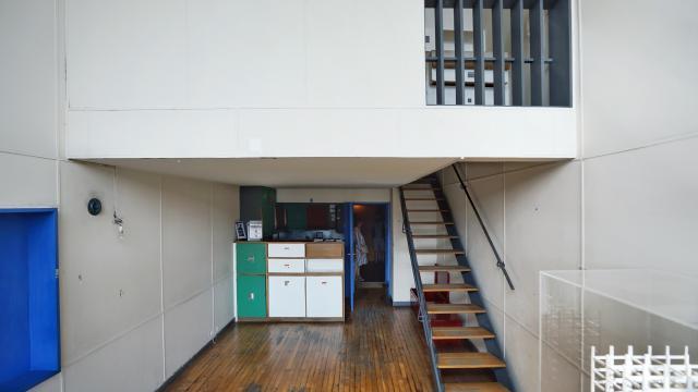 Immeuble Le Corbusier Marseille, appartement, vue salon