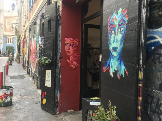 Ruelle du Cours julien à Marseille, street-art