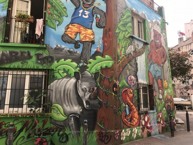 Street Art dans le quartier du Cours Julien à Marseille