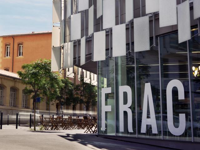 Musée du FRAC à Marseille, vue exterieur entrée