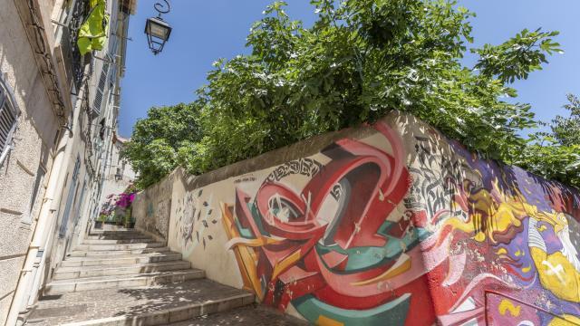 Quartier du Panier, ruelle et Street art