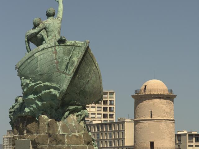 Palais du Pharo à Marseille, statue