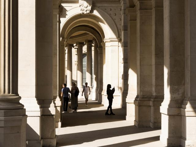 Palais Longchamp à Marseille, arcades