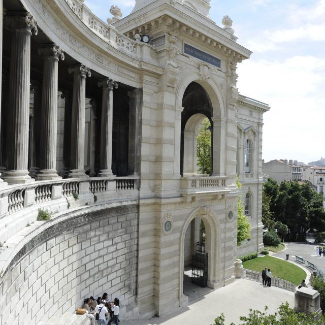 Palais Longchamp, escaliers aile Sud, P.MICALEF