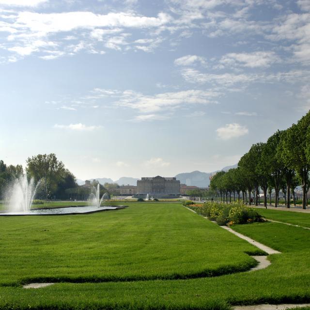 Parc Borely Marseille, Fontaine et chateau Borely