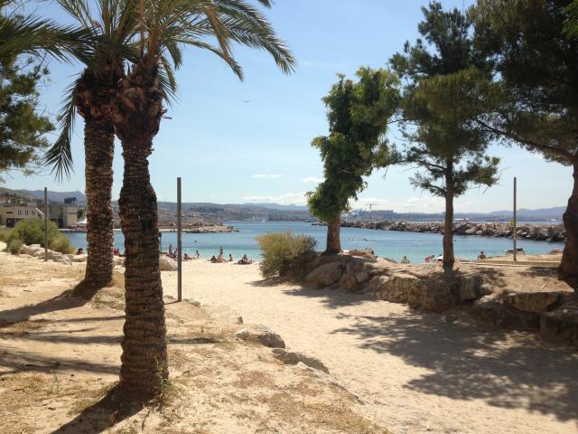 chemin de la plage de Corbière, quartier de l'Estaque à Marseille