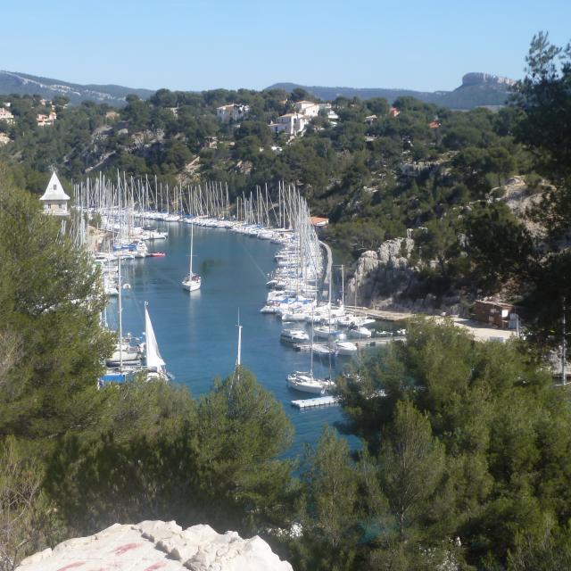 Calanque de Port-Miou à Cassis, vue sur les bateaux