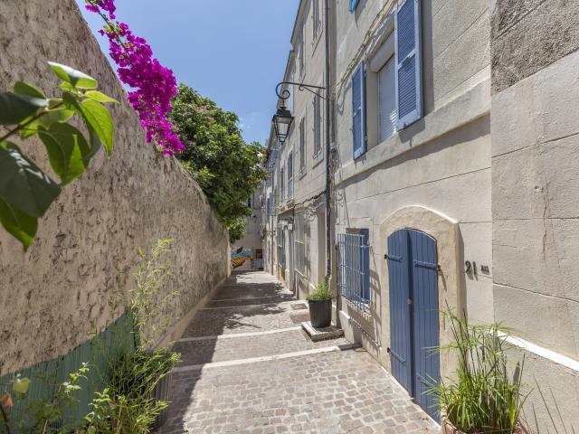 Passage et ruelles dans le quartier du Panier à Marseille