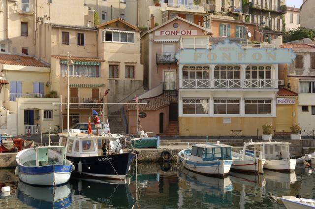 Vallon des Auffes à Marseille, Restaurant Chez Fonfon