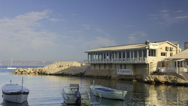 Vue mer sur le Restaurant L'épuisette du Vallon Des Auffes à Marseille