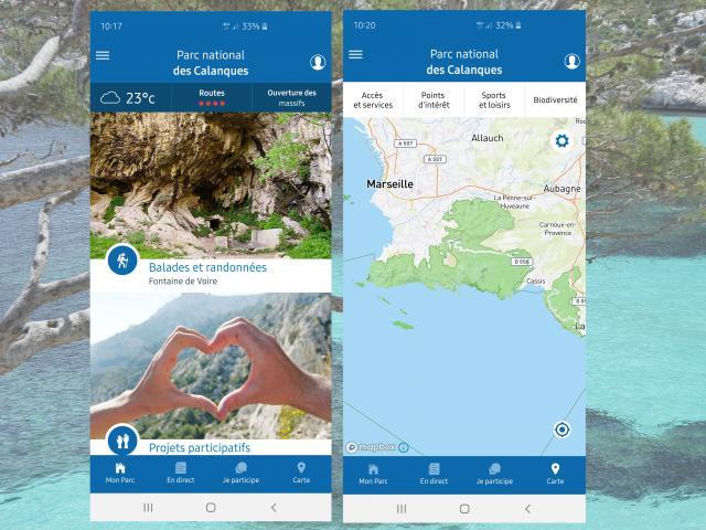 Application du Parc National des Calanques