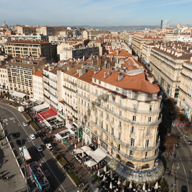 Rue de la République et Vieux-Port Marseille vu du haut de la Grande Roue
