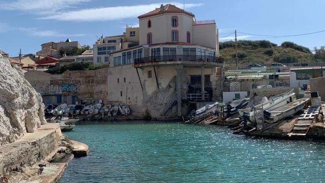 Entrée du port de Malmousque à Marseille