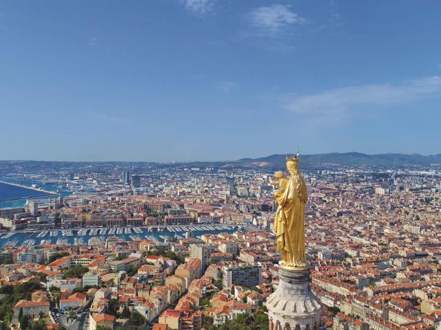 Notre-Dame de la Garde et ville de Marseille