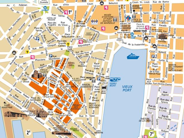 Carte du Vieux-Port