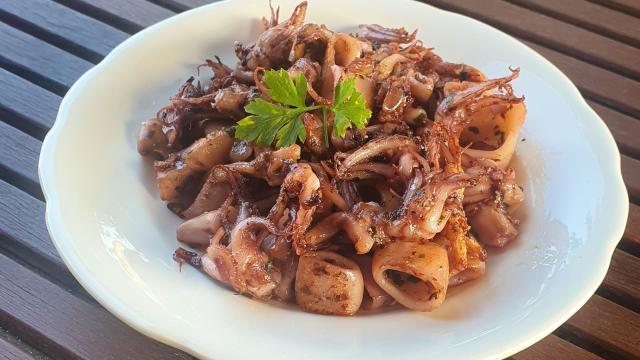 Assiettes de Supions à l'ail et au Persil