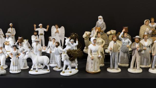 groupe de santons de couleur Blanche de la marque Arterra