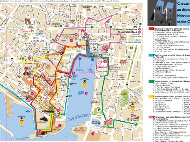carte des balades pédestres à Marseille