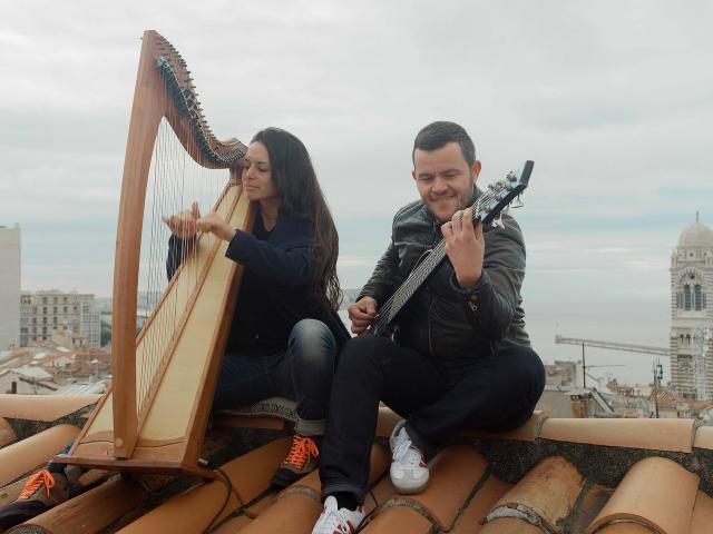 Musiciens Duo impressioniste