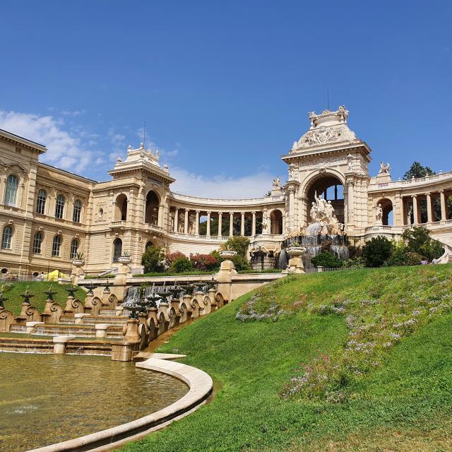 Palais Longchamp Marseille, Fontaine de l'entrée principale