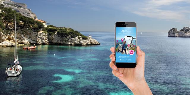 Téléphone mobile Mes Calanques Application