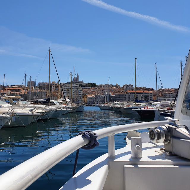 Balade en bateau départ du Vieux-Port