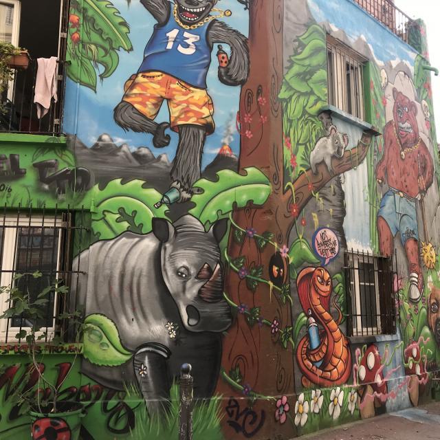Street-Art quartier du Cours Julien a marseille