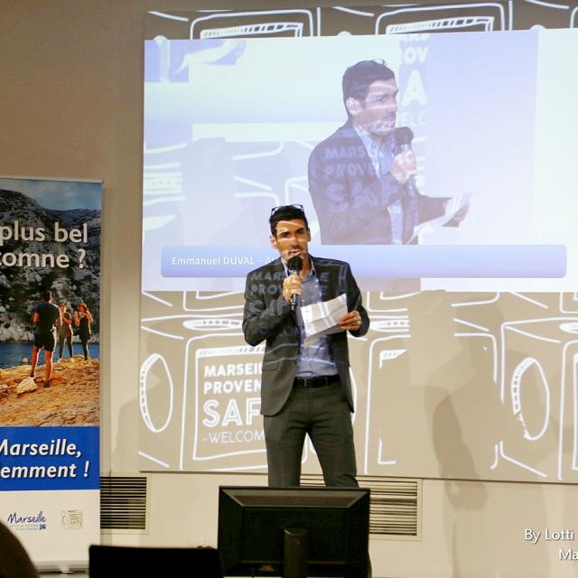 Discours de Emmanuel Duval Atout France lors d'une réunion à Marseille au WTCMP le 12 octobre 2020