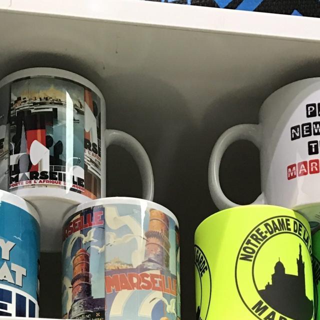 Boutique de l'Office de Tourisme de Marseille, Mugs