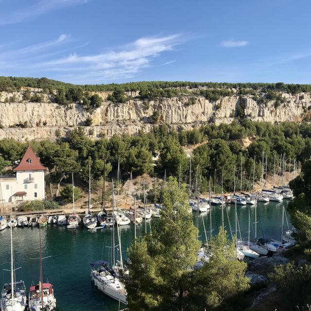 Calanque de Port Miou et bateaux