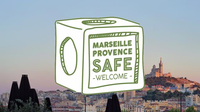 Logo de la charte sanitaire marseille provence safe welcome