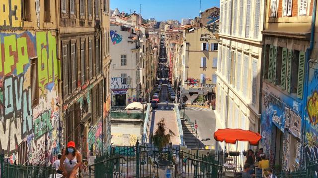 vue depuis les escaliers du cours julien