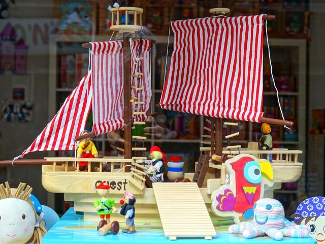 jouet en bois, bateau