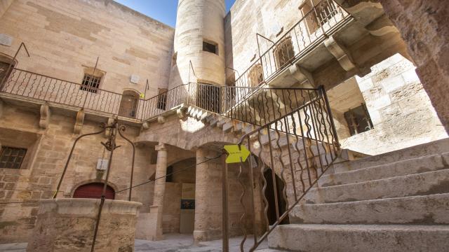 Château d'If Marseille, intérieur du château