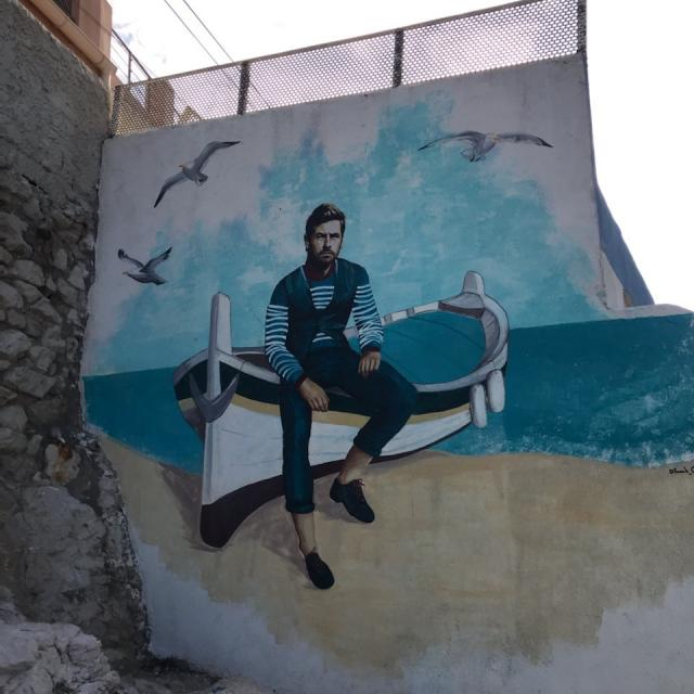 oeuvre de street art à Malmousque représentant André Villas-Boas