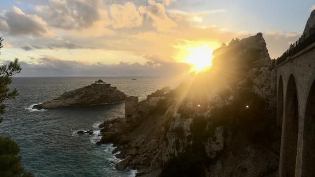 Coucher de soleil sur l'ile de l'Erevine