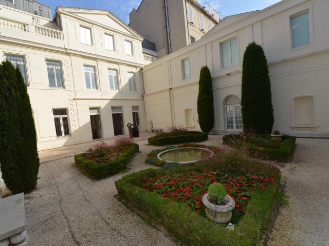 Cour intérieure du musée Cantini à Marseille