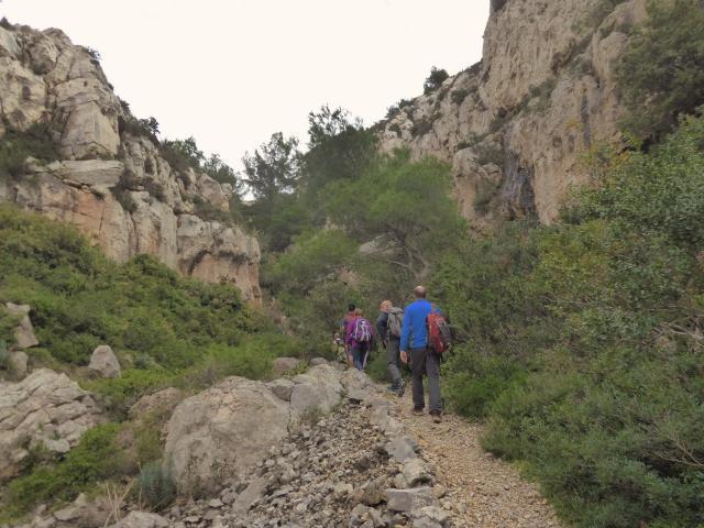 Marcheurs dans le parc national des calanques