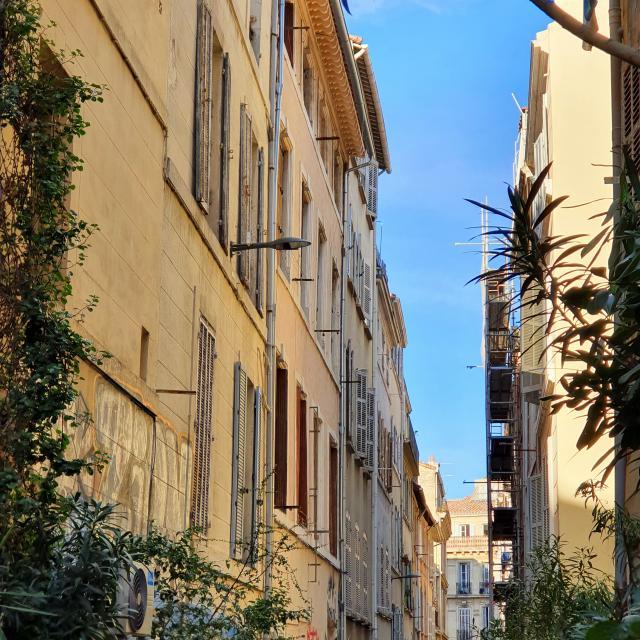 Rue végétalisée à Marseille