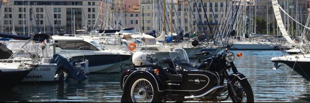Side car sur le vieux port