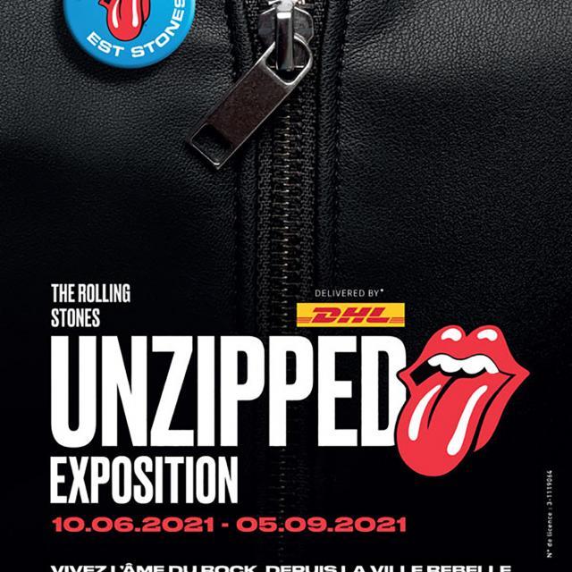 Affiche de l'Exposition des rolling Stones à) Marseille